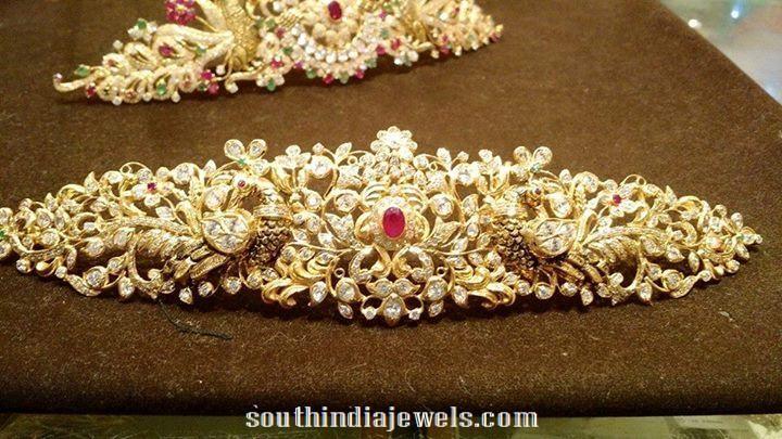 cfc81e5f3073a 22k Gold Stone Ottiyanam (Vaddanam) | Window idea | Gold wedding ...