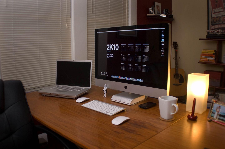 Mac Home Office Imac Desk Setup Workspace Inspiration Imac