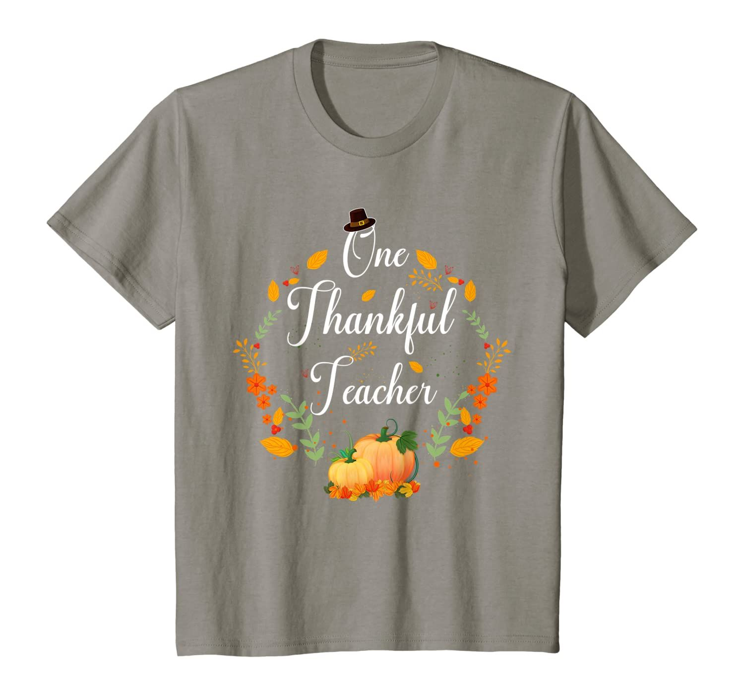 Fall Pumpkins One Thankful Teacher Thanksgiving Gifts T-Shirt
