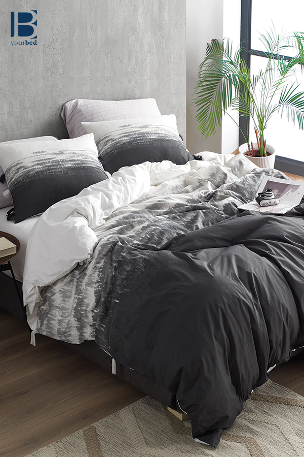 Unique Faded Black Ombre Duvet Cover In Extra Large King Size With Super Soft Cotton Material Single Duvet Single Duvet Cover Luxury Bedding Sets