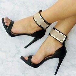 7b430e374f1  mothersday  AdoreWe  EricDress  EricDress Ericdress Sequin Open Toe Zipper Plain  Stiletto Sandals AdoreWe.com