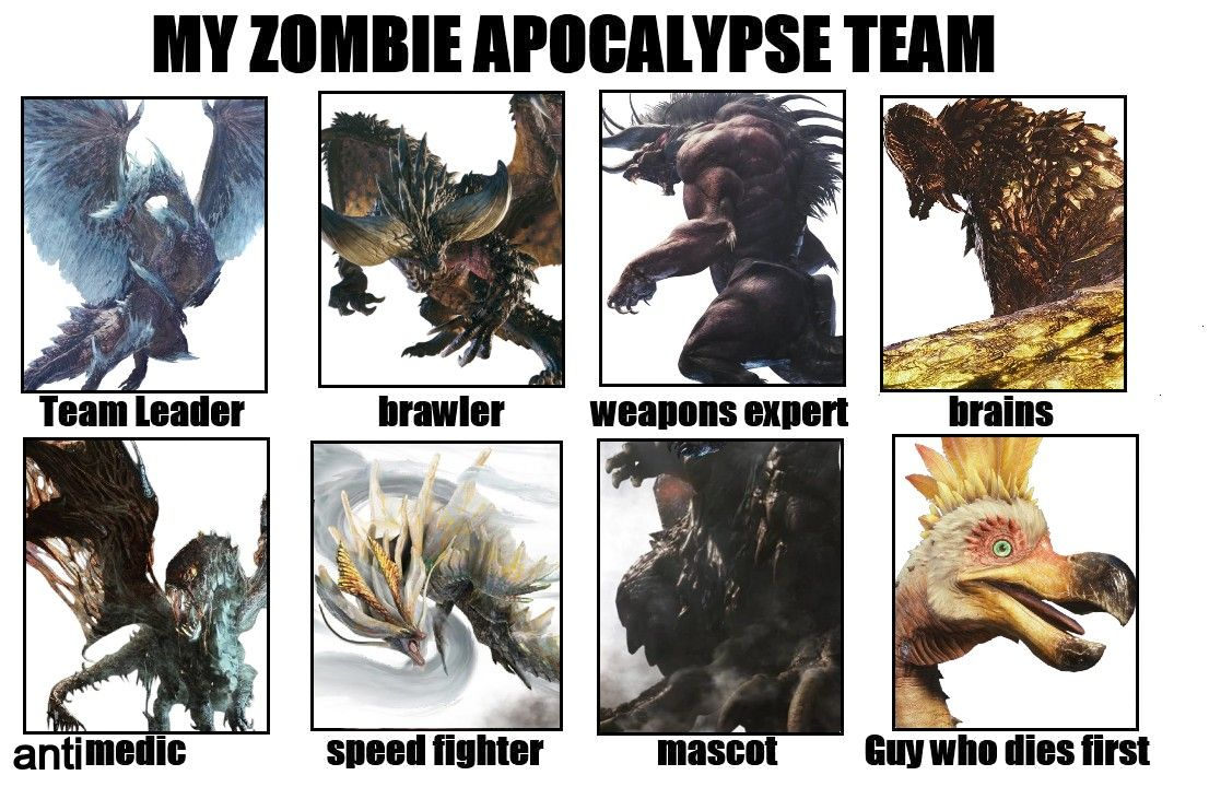 My Mostly Elder Dragon Team In 2020 Monster Hunter We Dont Talk Dragon