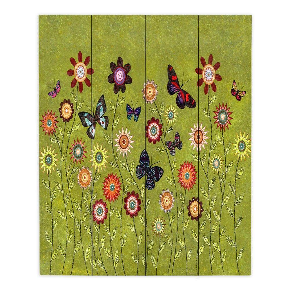 Wood Plank Wall Art Art Unique   Sascalia Bohemian Butterflies ...