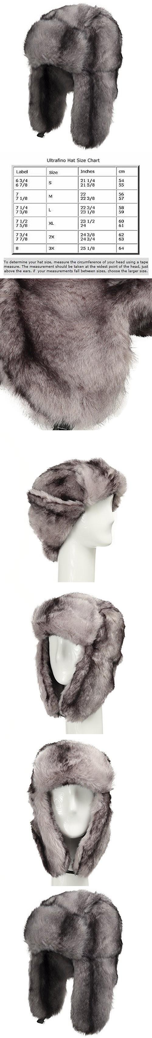 963e22fe353 Explorer Ushanka Winter Trapper Faux Fur Pilot Hat with Ear Flaps GREY 7 1 4
