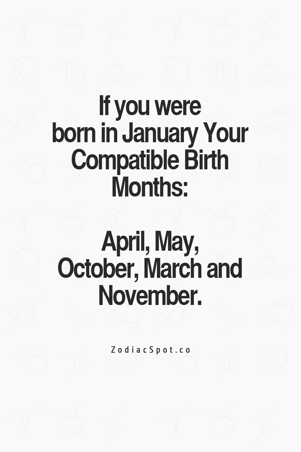 Find your compatible birth month here
