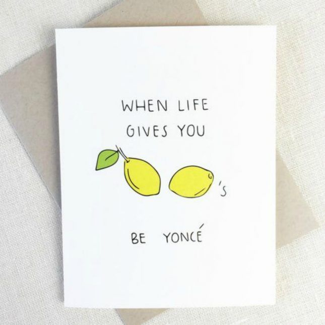 When life gives you lemons be yonc love this greeting card when life gives you lemons be yonc love this greeting card m4hsunfo