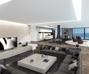 modern luxury homes interior design. Speaking of inspiring spaces  this coastal home visualized by architect and designer Daniel Vojinovic is House InteriorsModern