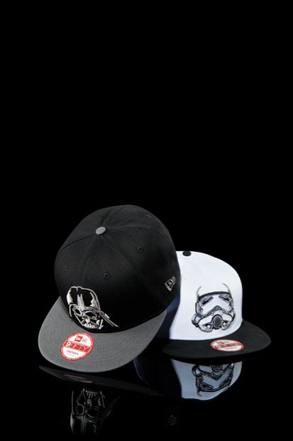 5ac637cfa440b Image of New Era x Star Wars 59FIFTY® Cap Collection. Star Wars Darth Vader  and Stormtrooper cap.