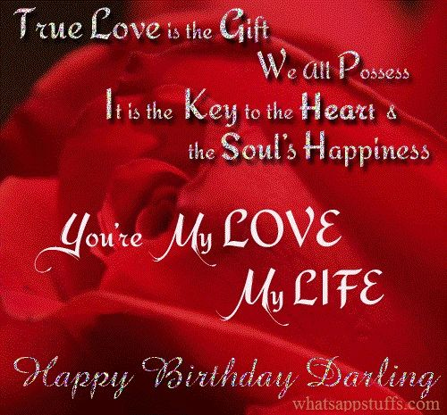 Romantic birthday wife Birthday Wishes Funnies – Happy Birthday Greeting for Wife