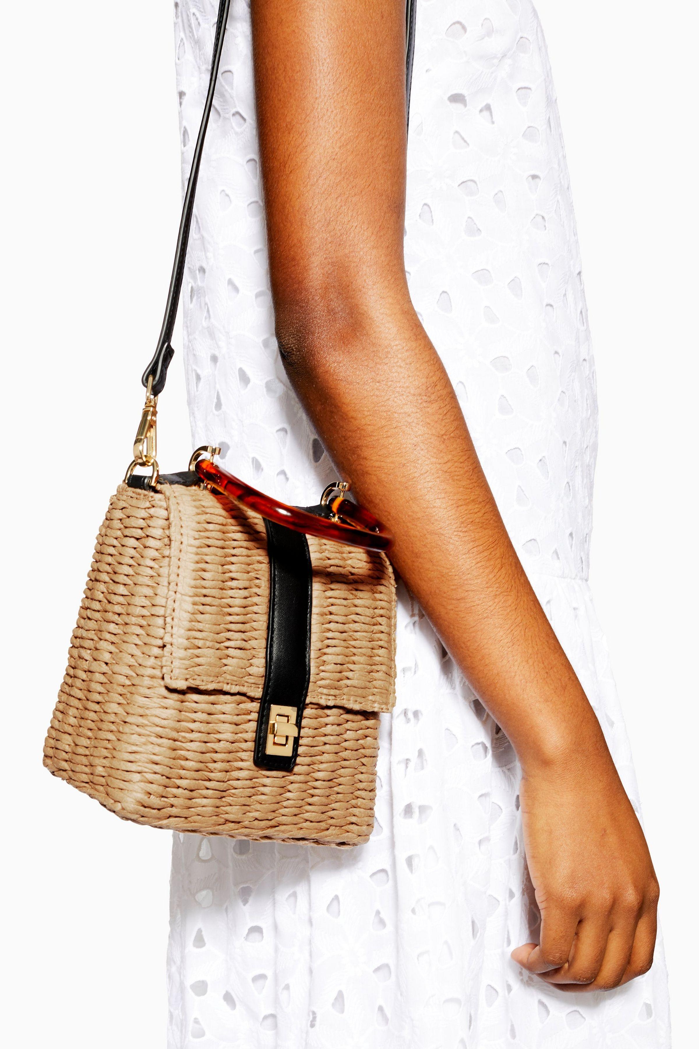 c5ec5fcf7da0 SKYLA Straw Grab Bag   Style in 2019   Bags, Grab bags, Bag accessories