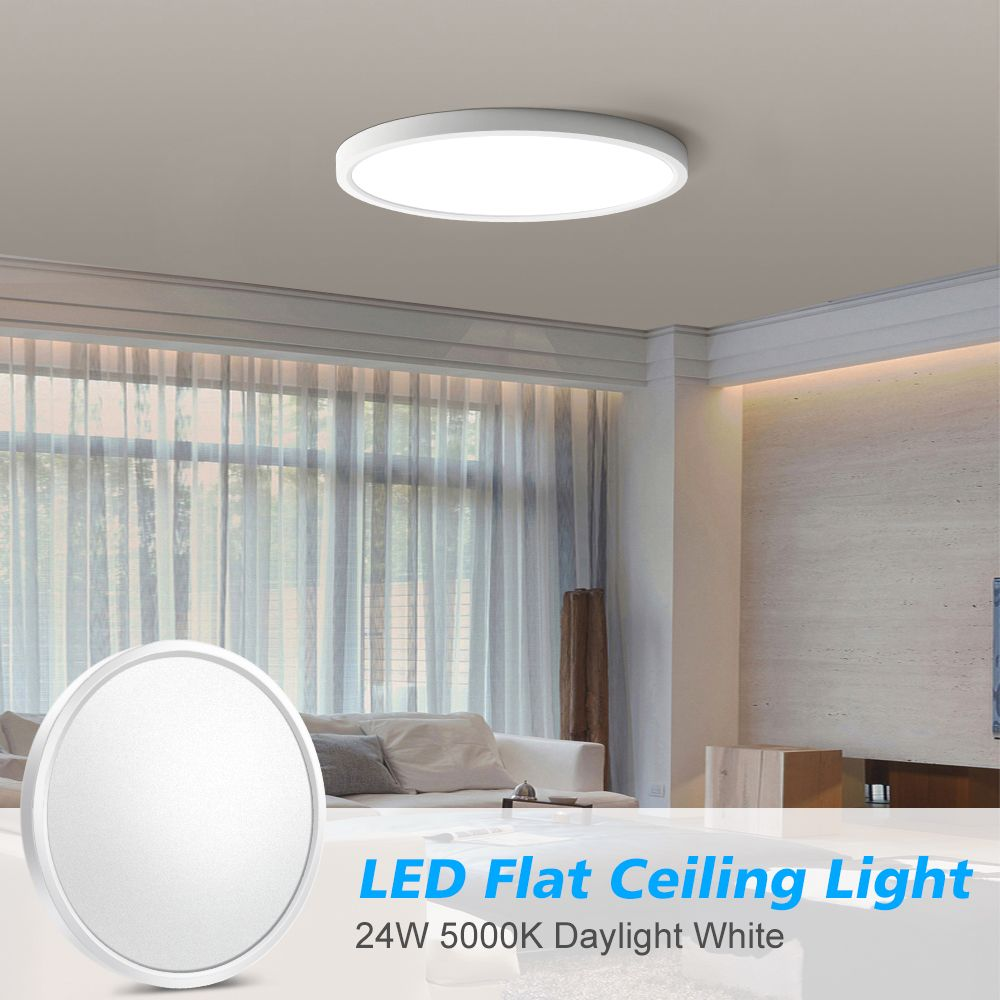 12 Inch Led Ceiling Lights Flush Mount 24w Surface Mount Led Light Fixture 240w Equivalent 2600lm Dayl In 2020 Ceiling Lights Led Ceiling Lights Led Light Fixtures