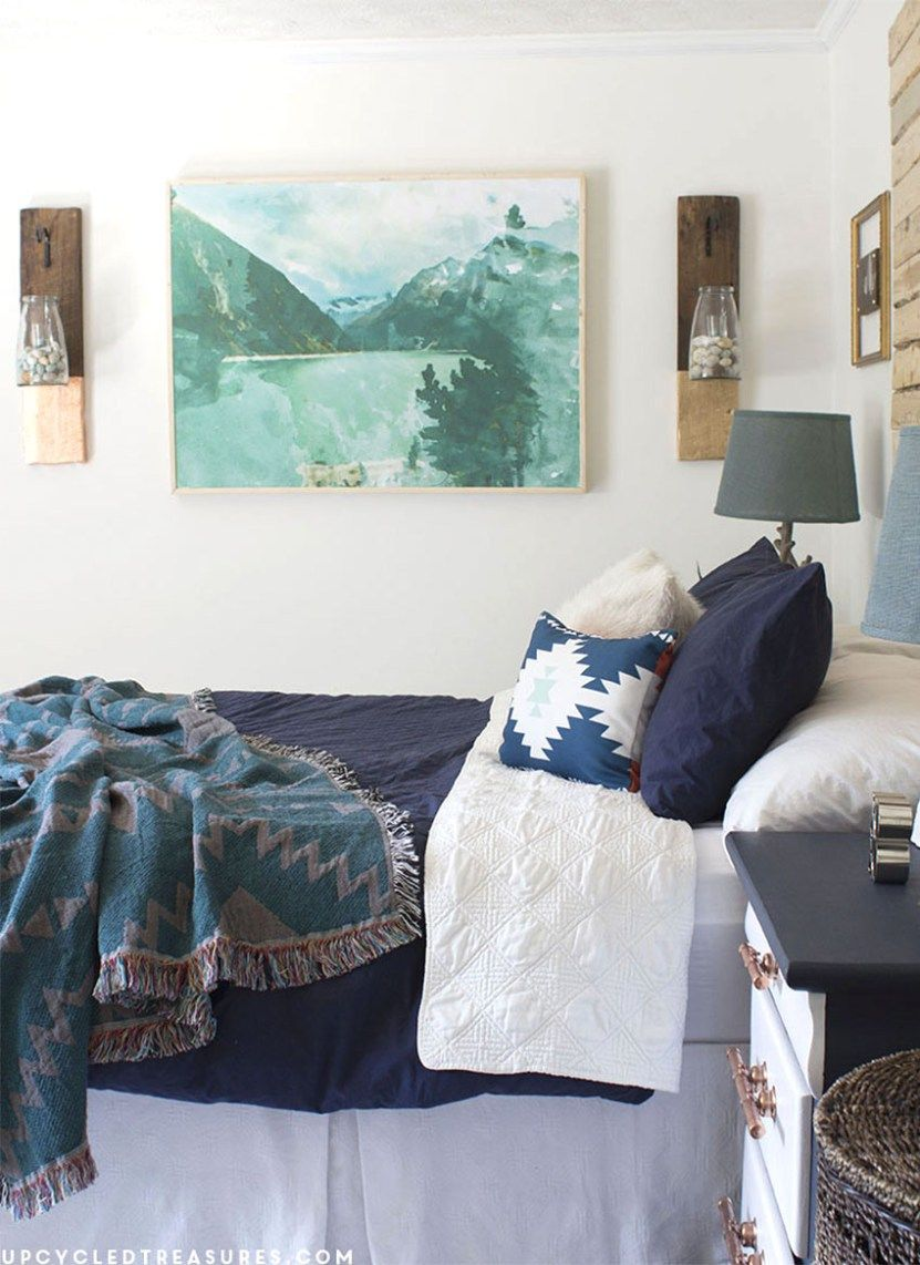 Diy large scale wall art engineer prints mountain modern and
