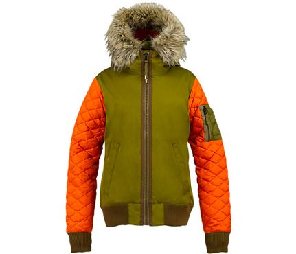 Statement Jackets For Winter: L.A.M.B for Burton Bomber Jacket, $280