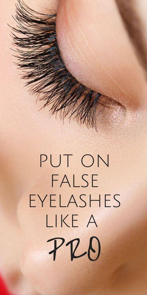 How To Apply False Eyelashes For Beginners | False ...