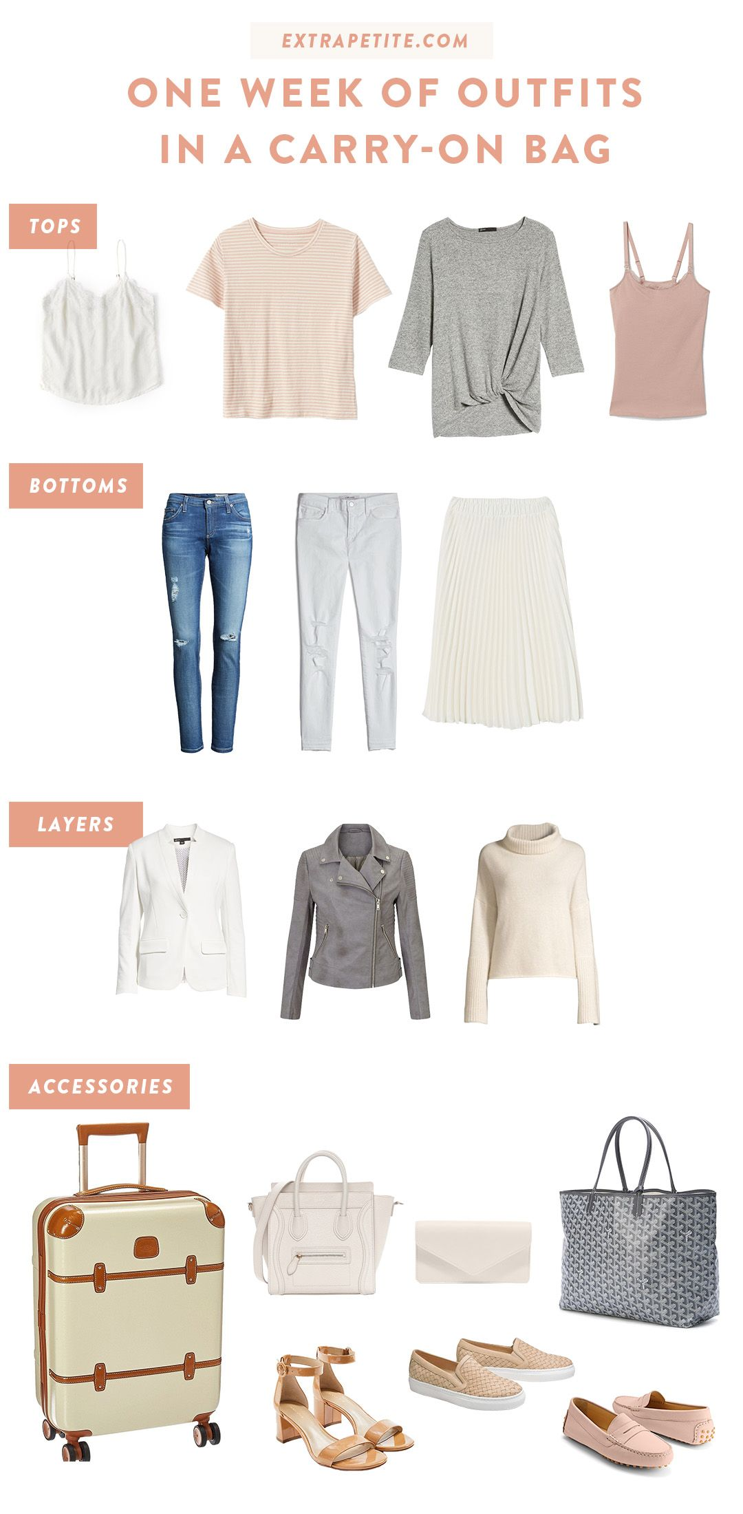 Travel Outfits - What to Pack on a Spring Vacation