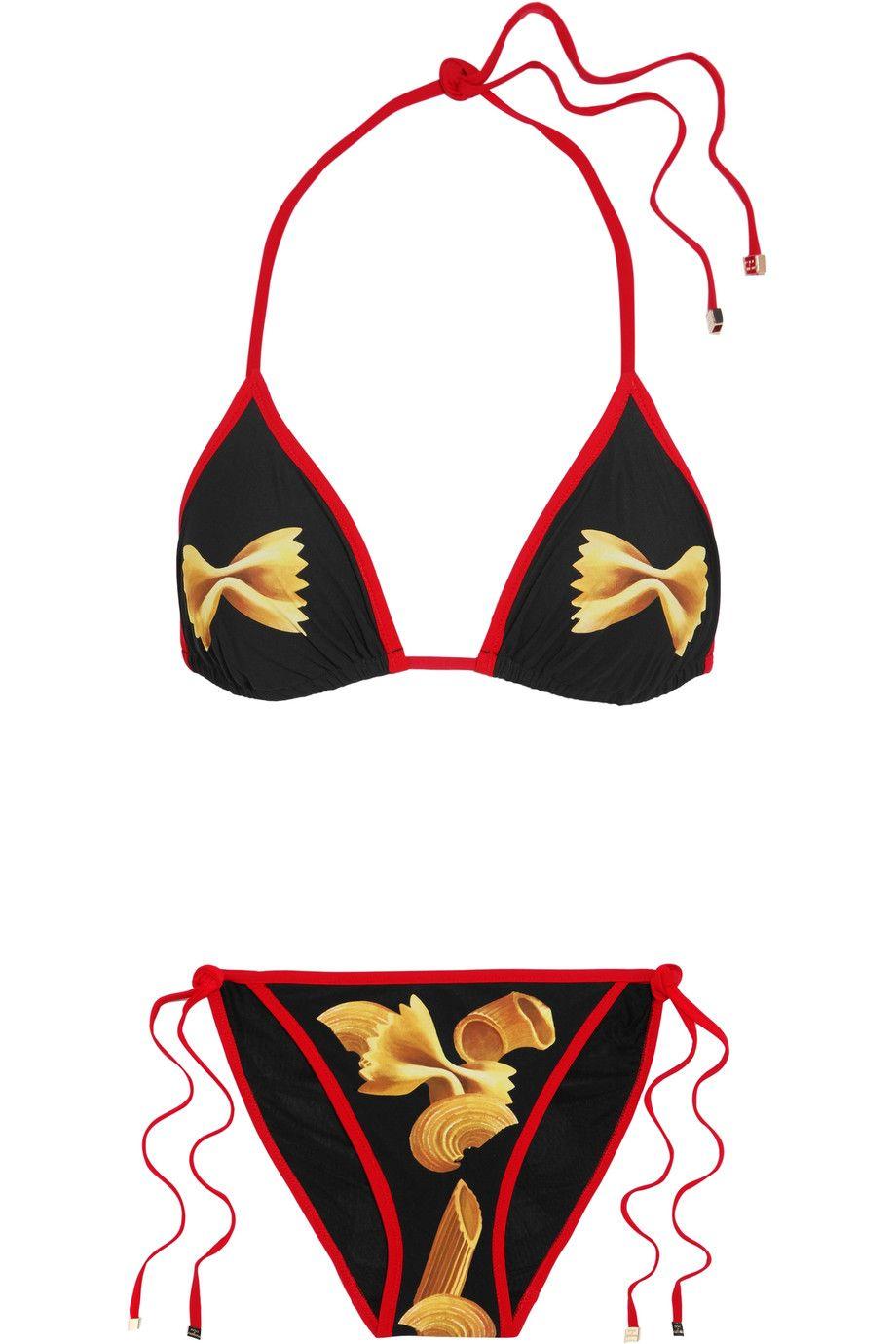 5722c4bd569019 Ad: Dolce & Gabbana pasta print bikini, £315 | Dolce & Gabbana ...