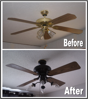 Diy ceiling fan makeover sergio pinterest color y decoracin diy ceiling fan makeover aloadofball Gallery
