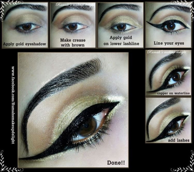 #Gold  #Holiday #Makeup #Tutorial Check out the product list here: http://www.glam-express.com/profiles/blogs/quick-gold-holiday-makeup-tutorial @Rumah Saad Khan