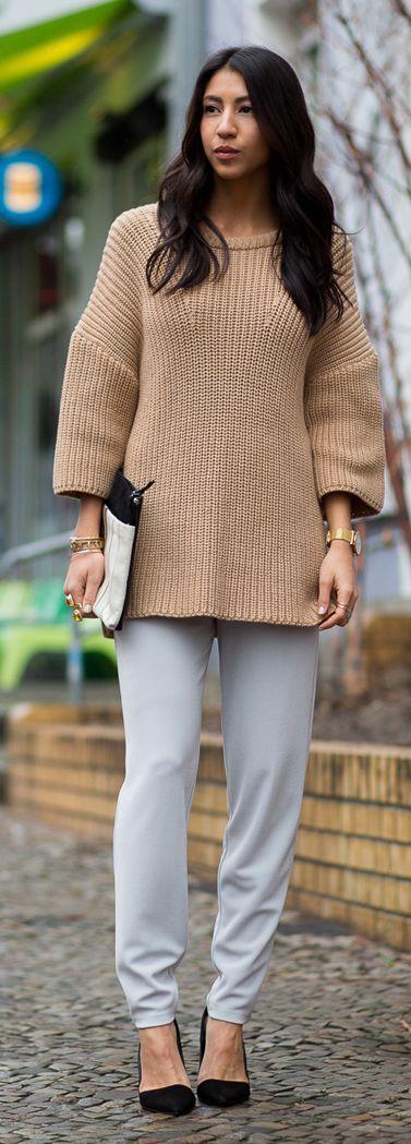 Half Sleeve Drop Shoulder Sweater