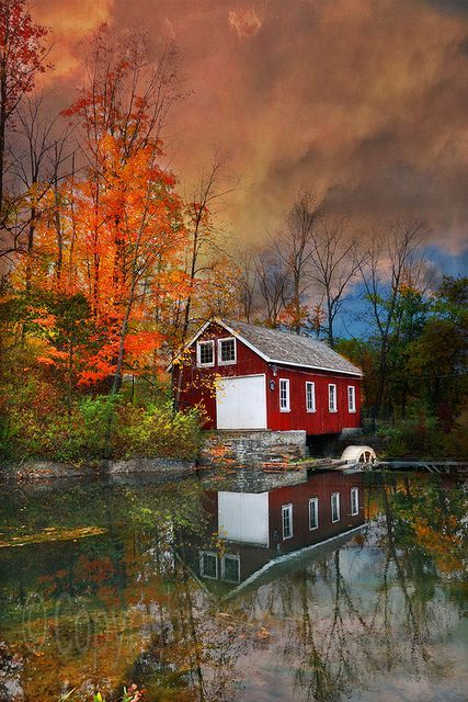 ~~Morningstar Mill Reflections | Autumn on the pond, Niagara Region, Ontario, Canada by peonylover48~~