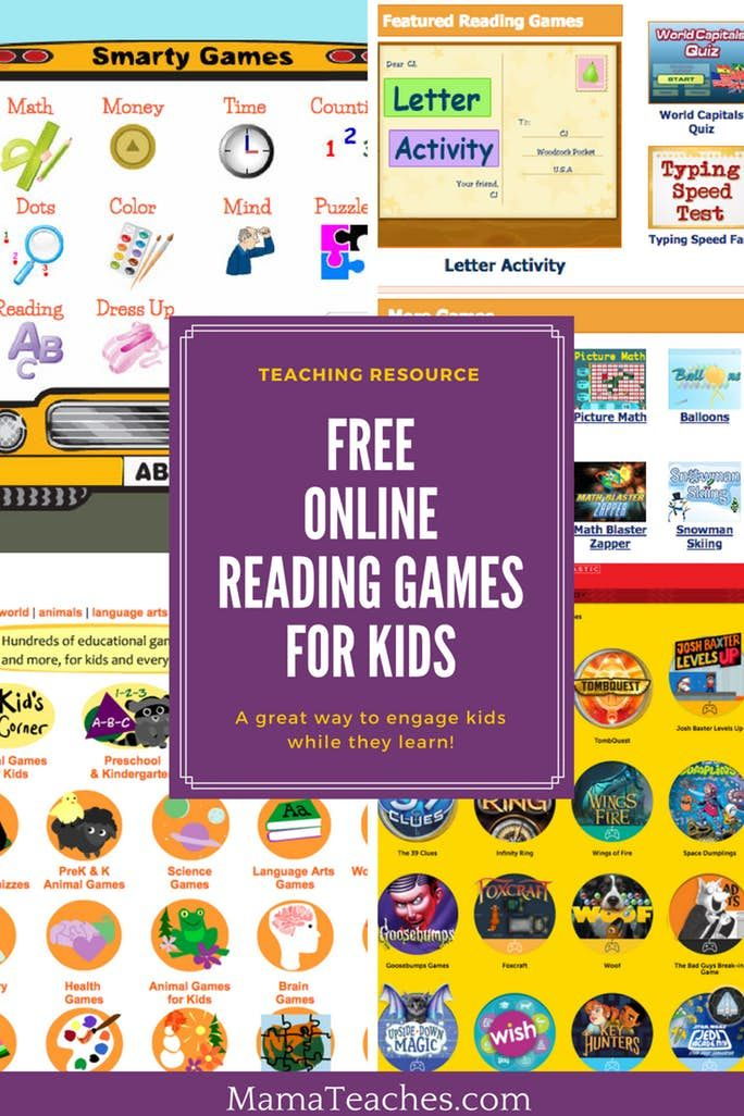 Free Reading Games for Kids - Mama Teaches