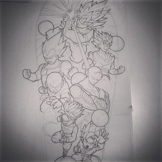 Dragon Ball Z Tattoo Ideas: Would Love To Tattoo This Dragon Ball Z Sleeve #dragonball