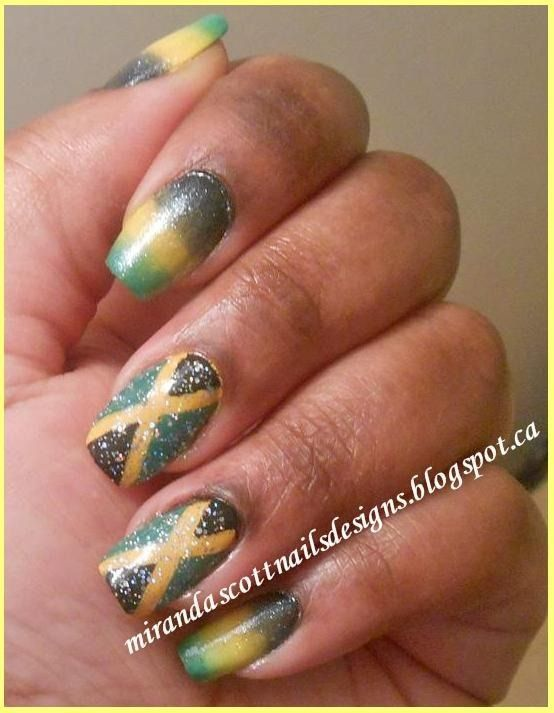 Jamaican Flag nails | JaMaiCa: "|554|713|?|4e740544fca9846efd68c9dbd5061233|False|UNLIKELY|0.3516327738761902
