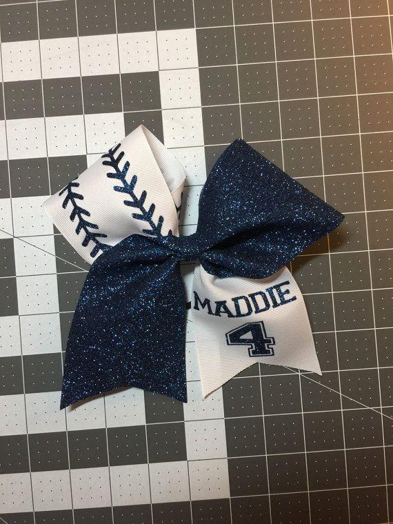Softball bow personalized