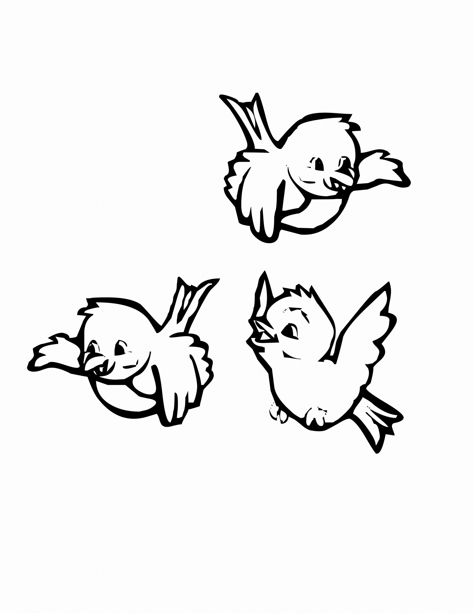 Cartoon Flying Bird Coloring Pages For Kids Bird Coloring Pages Cartoon Coloring Pages Free Coloring Pages