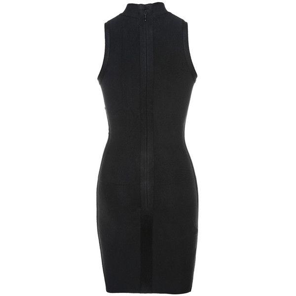 Radiant\' Black Cut Away Sleeve Bandage Dress - Mistress Rocks (280 ...