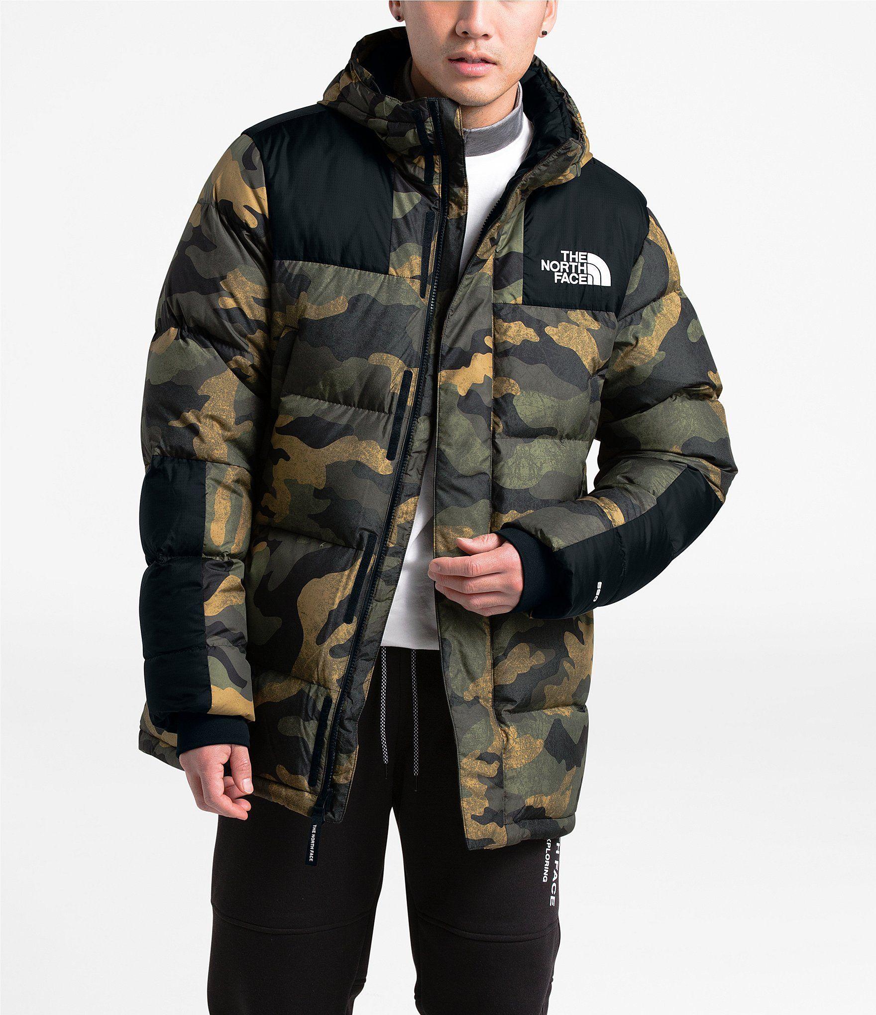 The North Face Camo Print Deptford Down Parka Coat Burnt Olive Green Waxed Camo Print Xl Mens Jackets Down Jacket Jackets [ 2040 x 1760 Pixel ]