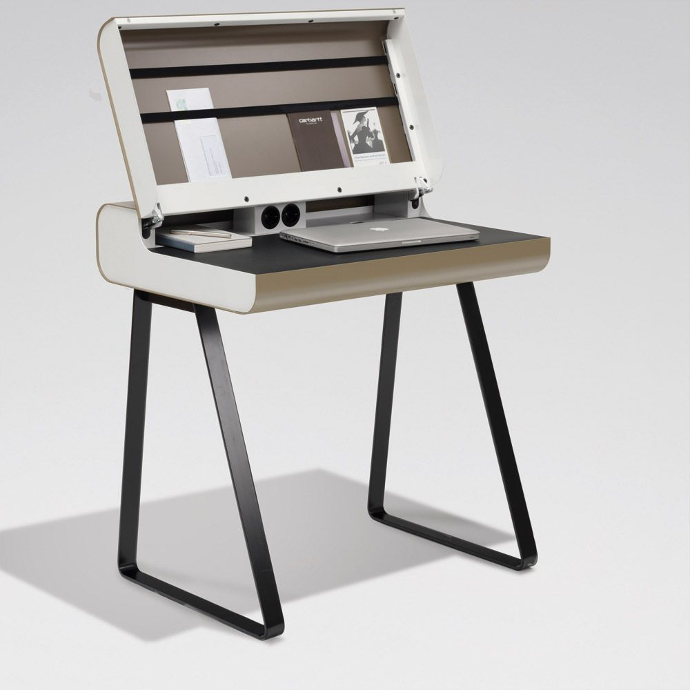 bureau ordinateur ferm lectronique pinterest desks. Black Bedroom Furniture Sets. Home Design Ideas