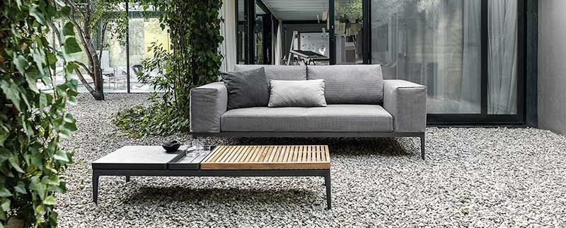 Garten Gartenmöbel Outdoor Bank Sofa Natur Design Gartenmöbel