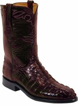 e97866c27b9 Mens Lucchese Classics Black Cherry American Alligator Tail Custom ...