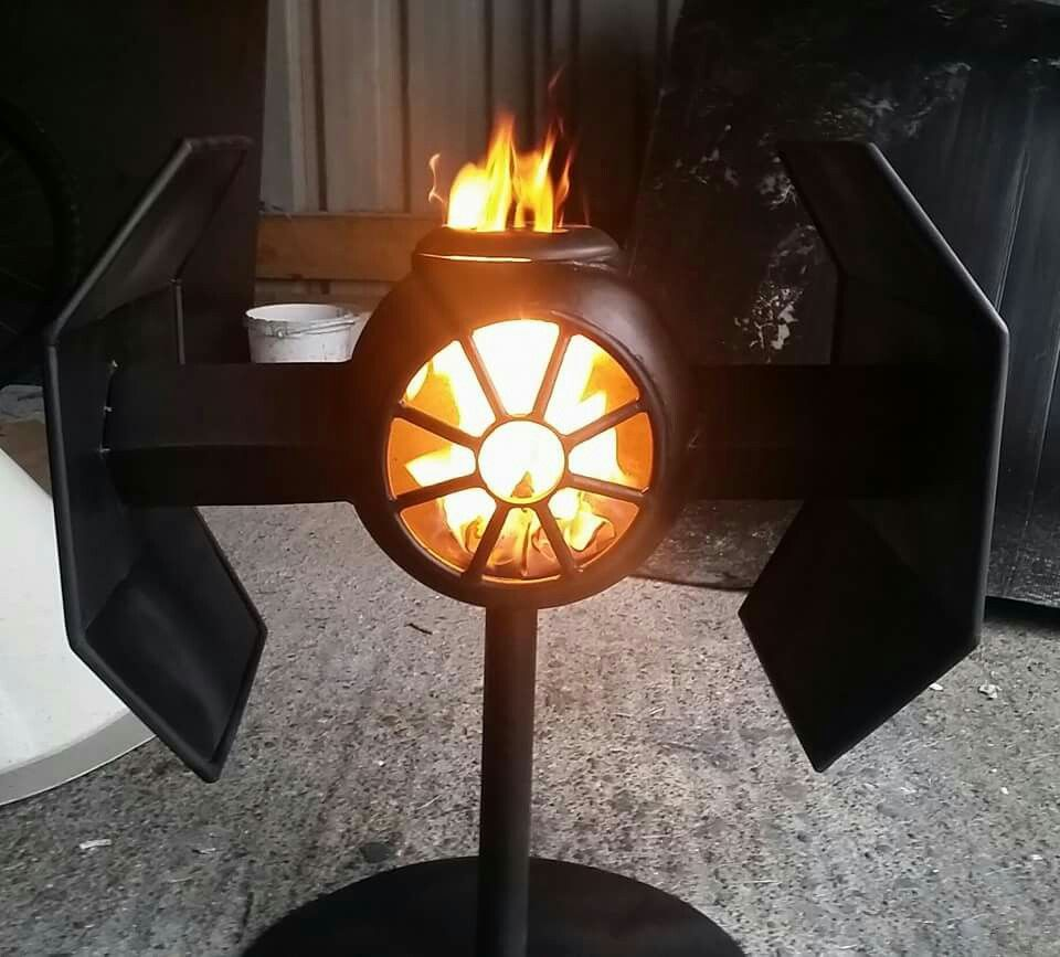 Star Wars Tie Fighter Wood Burner