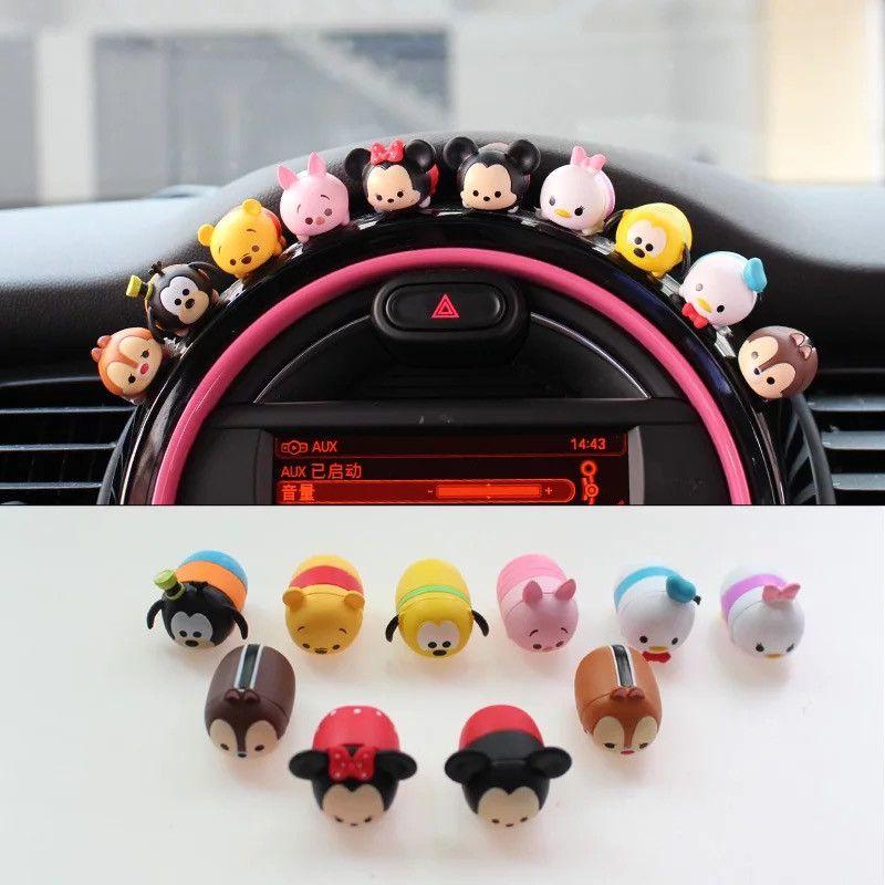 Mini Cooper Dashboard Cute Micky Minnie Silicone Small Figures Car Decoration 10x