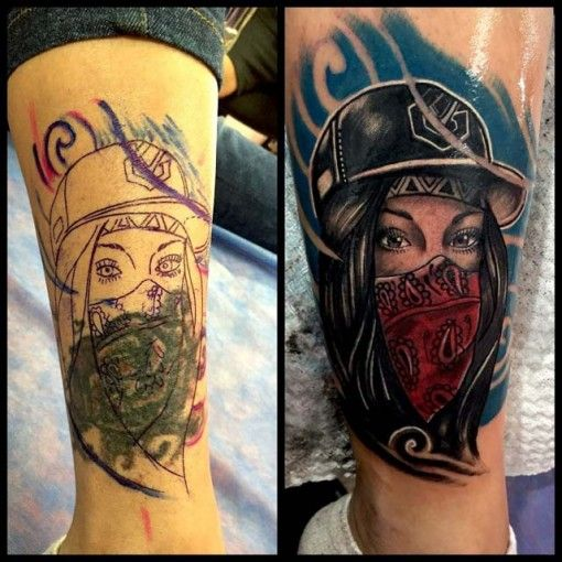Girl Tattoo Cover Up On Leg Cover Up Tattoos Pinterest Tatuajes