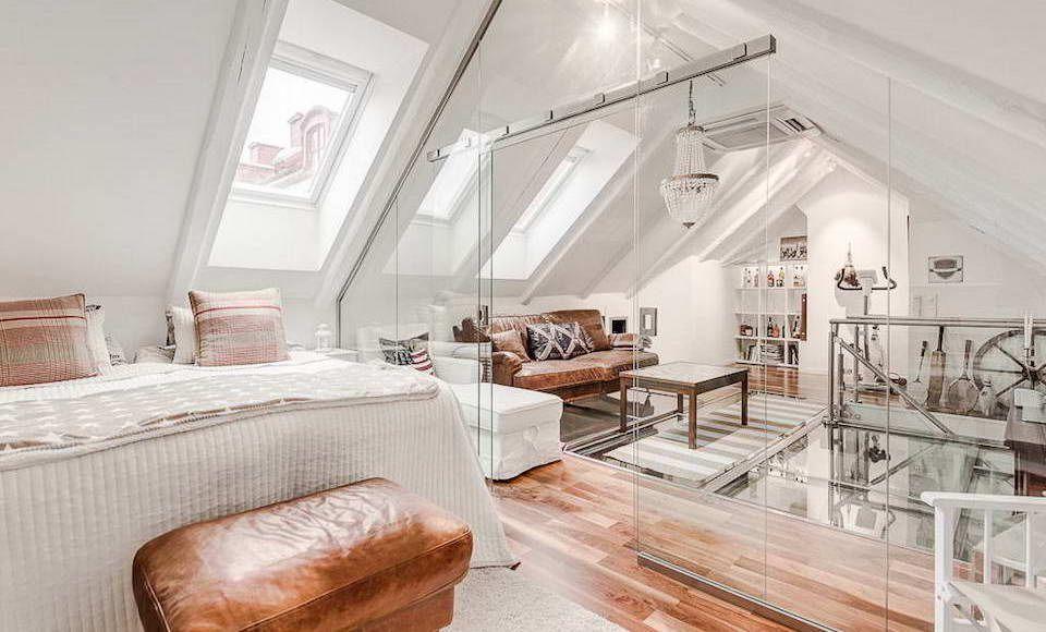 schuin dak glas Slaapkamer Pinterest - küche wandpaneele glas