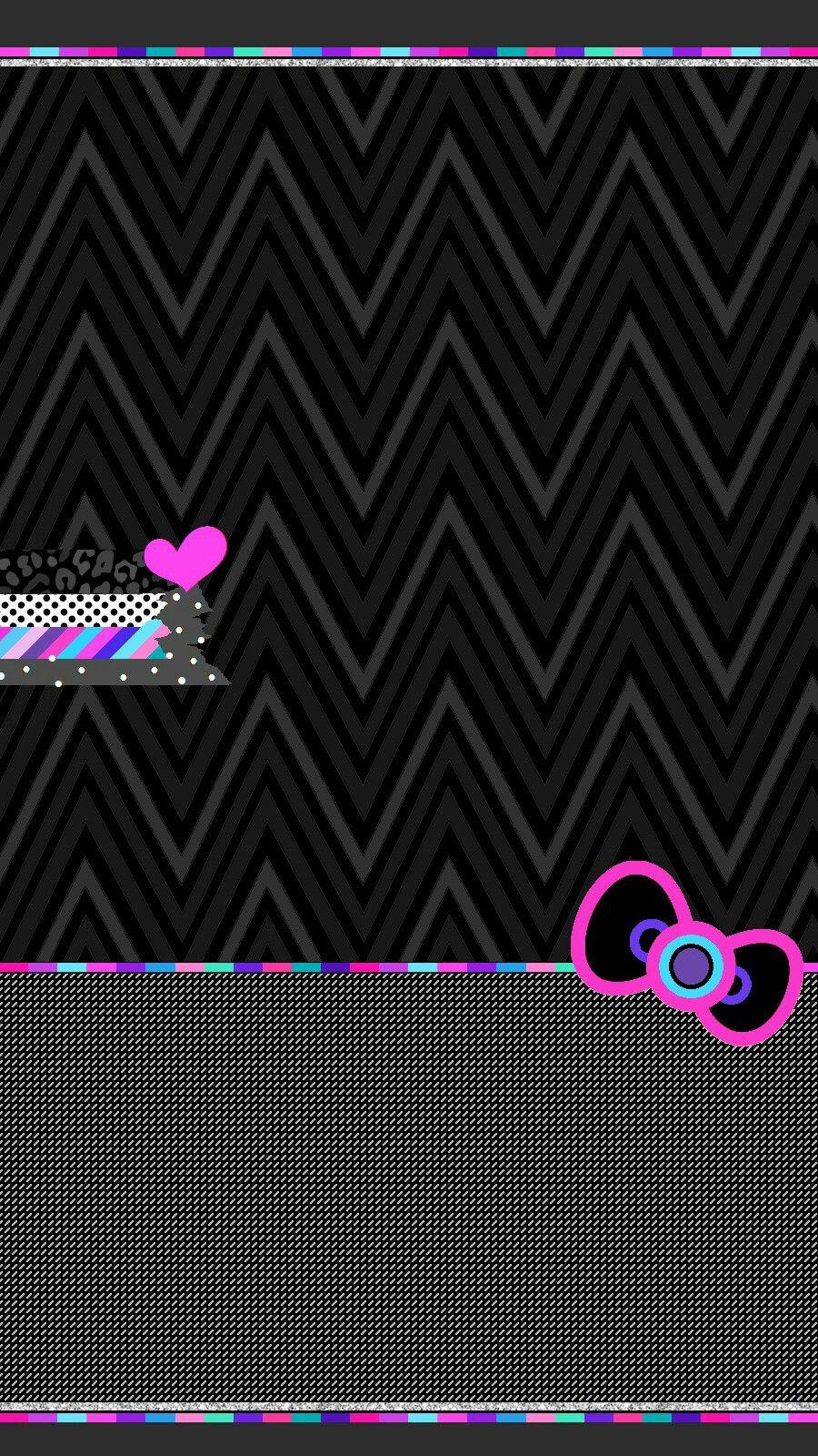 Black And Pink Stripes Hello Kitty Wallpaper Hello Kitty Iphone Wallpaper Hello Kitty Wallpaper Hello Kitty