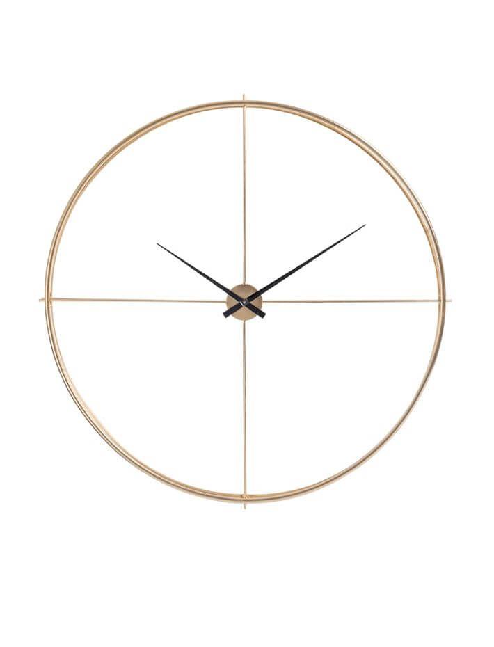 Horloge Murale Ronde Métal Or Diamètre 128 Cm Marthe En 2018