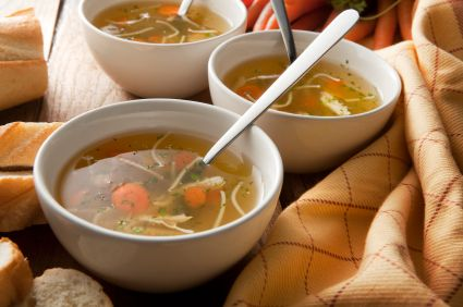 German Chicken Broth - home made and all natural by Mybestgermanrecipes.com