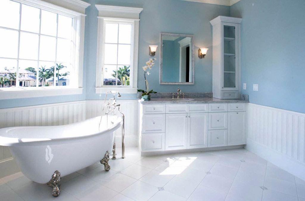 20 Of The Most Gorgeous Blue Bathroom Designs Light Blue Bathroom Master Bathroom Design Minimalist Bathroom Design