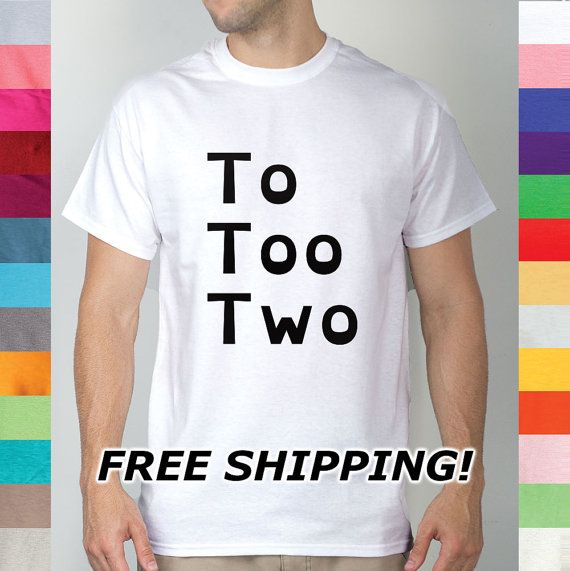 To Too Two Grammar Spelling Writing School English by DeadlyShirts