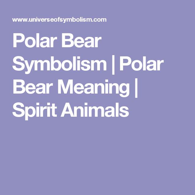 Polar Bear Symbolism Polar Bear Meaning Spirit Animals Polar