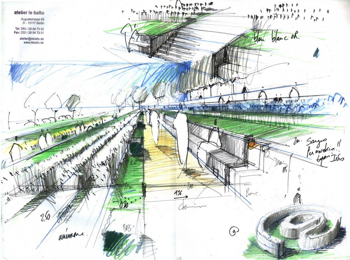 Landschaftsarchitektur Skizze – godsriddle.info