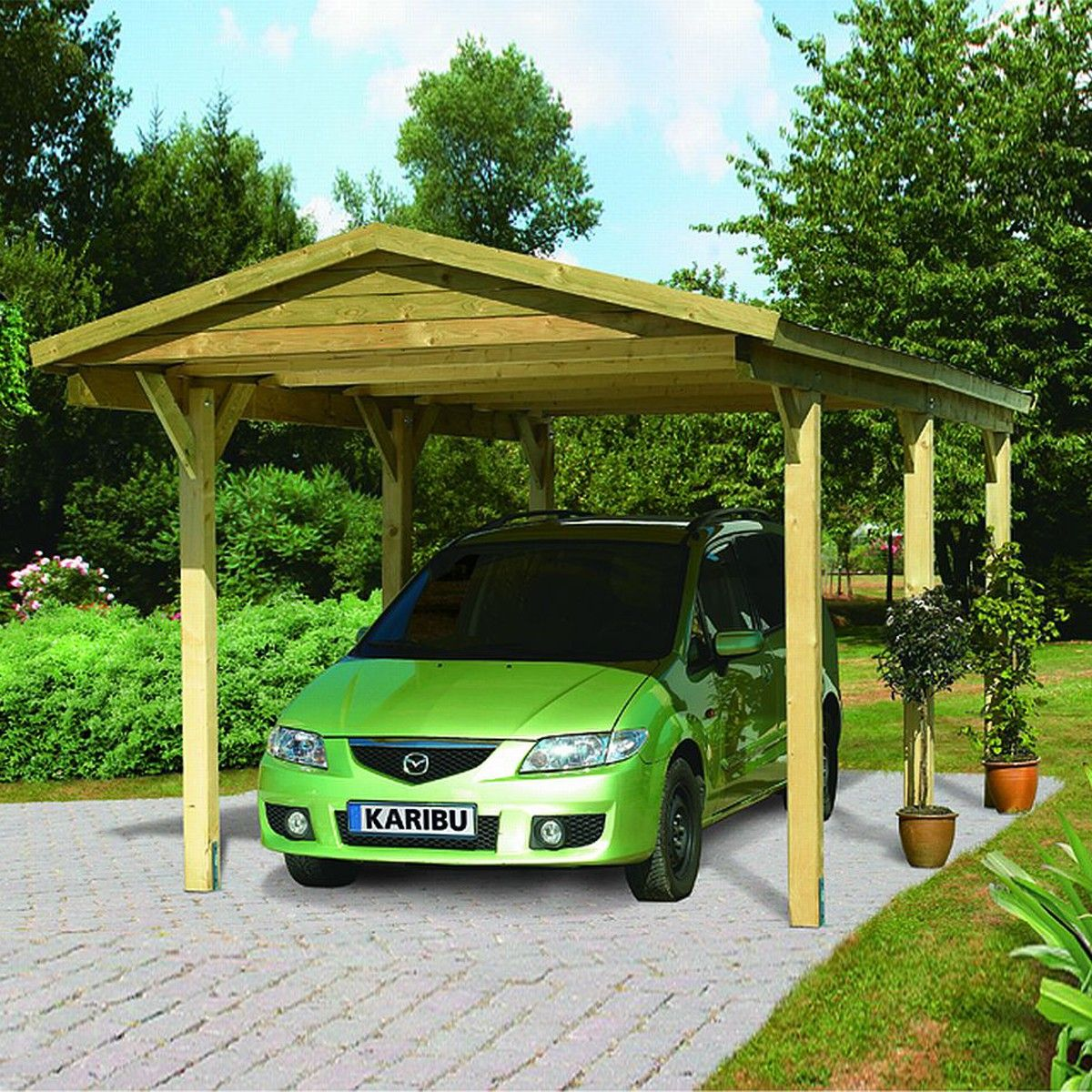 carport bois m2 madison1 297x495x260cm au meilleur. Black Bedroom Furniture Sets. Home Design Ideas