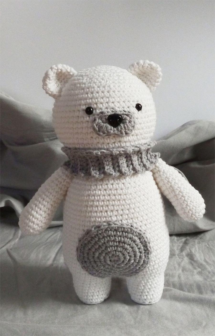 Амигуруми Белый Мишка Схема | игрушки крючком | Pinterest | Häkeln