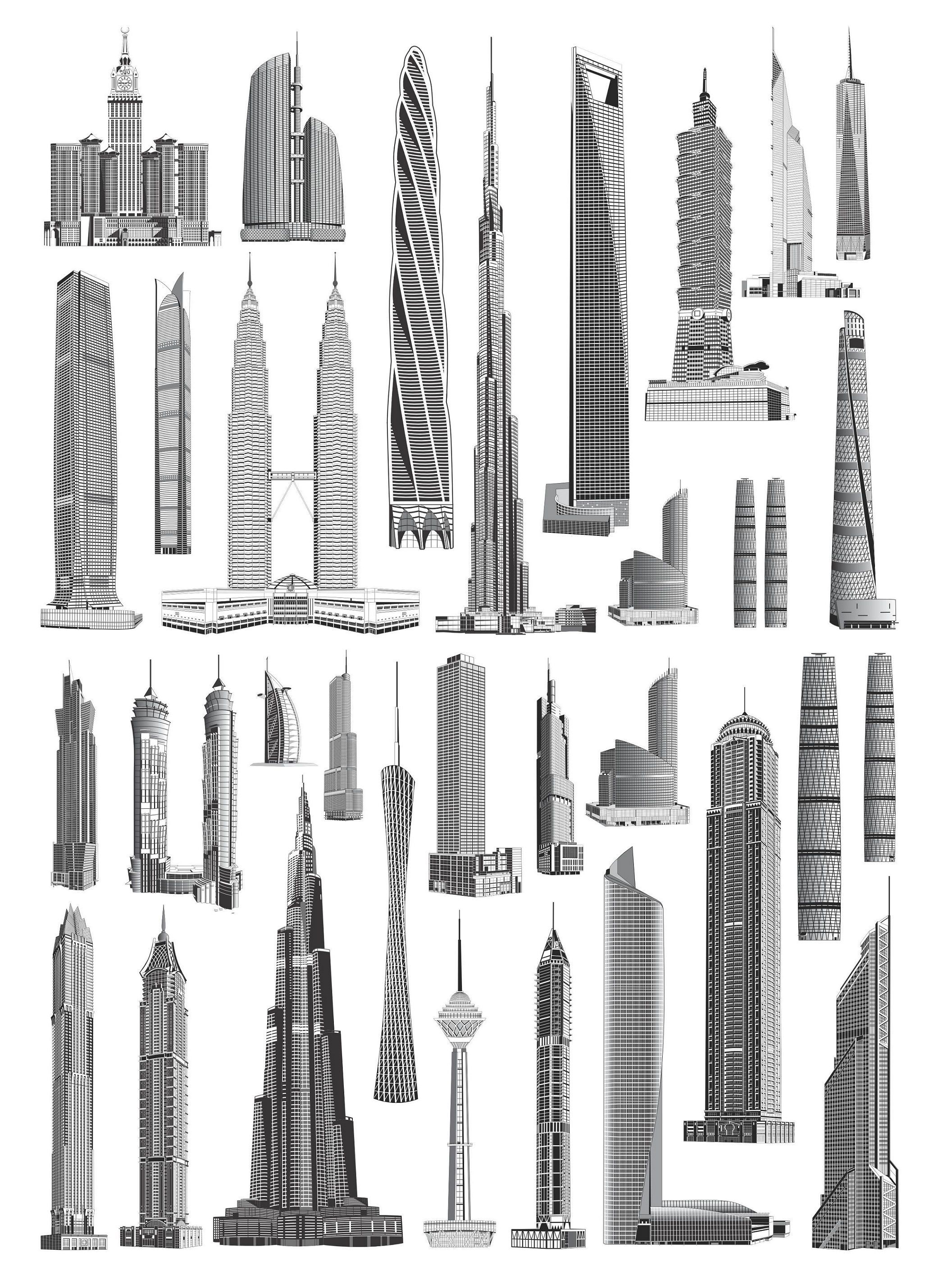 Skyscrapers | Silhouettes Vector | Pinterest | Skyscrapers