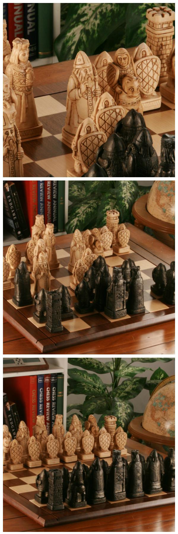 House Of Hauteville Chessmen Antique White And Black