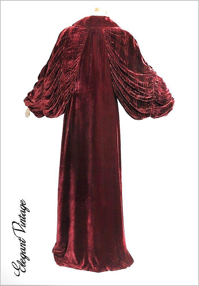 1920s - 30\'s Deco Silk Velvet Dressing Gown | Vintage Linings ...
